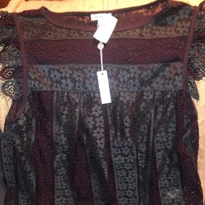 Max Studio Babydoll style lace top
